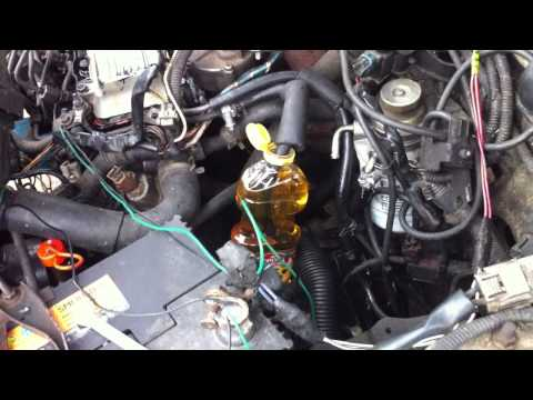 Diesel engine work at